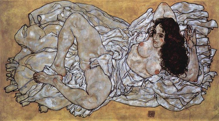 Lying Woman, 1917 - Egon Schiele