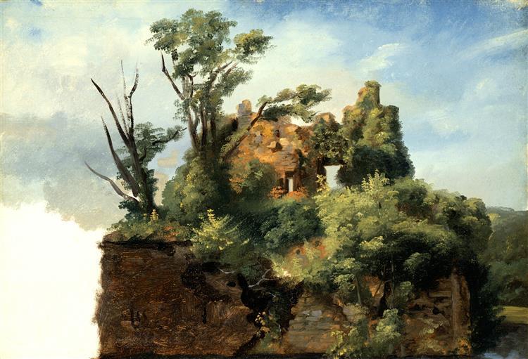 Landscape with Ruins, c.1782 - c.1785 - Pierre-Henri de Valenciennes