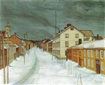 Estrada Principal em Røros - Harald Sohlberg
