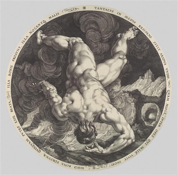 Tantalus - Hendrick Goltzius
