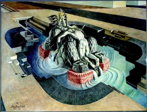Grave of the unknown soldier, 1971 - Stanisław Szukalski
