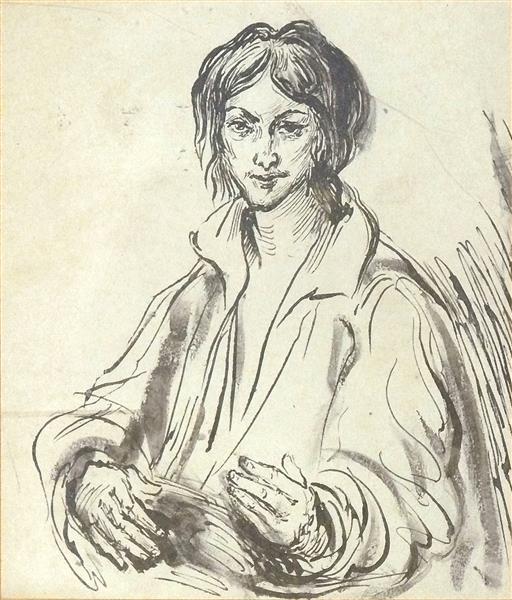 Jeune-homme en buste - Alfred Dehodencq