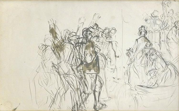 Etude pour le départ des Mobiles, c.1879 - Alfred Dehodencq