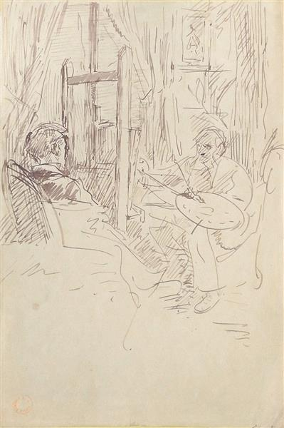 L'artiste et son modèle, c.1870 - Alfred Dehodencq