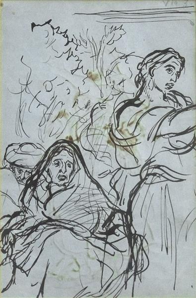 Etude pour la Danse Gitane (recto) - Alfred Dehodencq