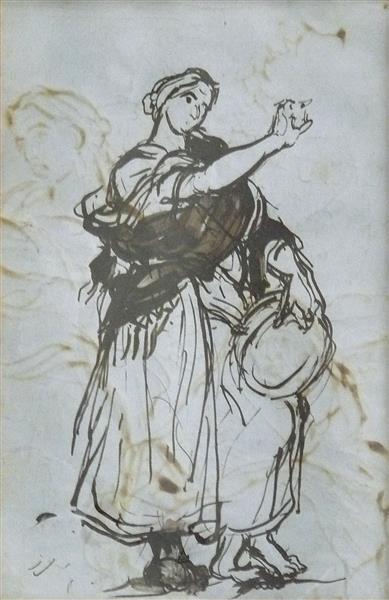 Etude pour la Danse Gitane (verso) - Alfred Dehodencq