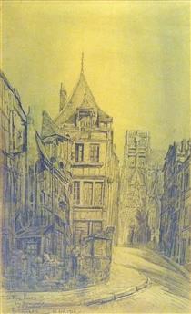 Le Vieux Rouen, Rue Haranguerie et St Vincent - Fernand Combes