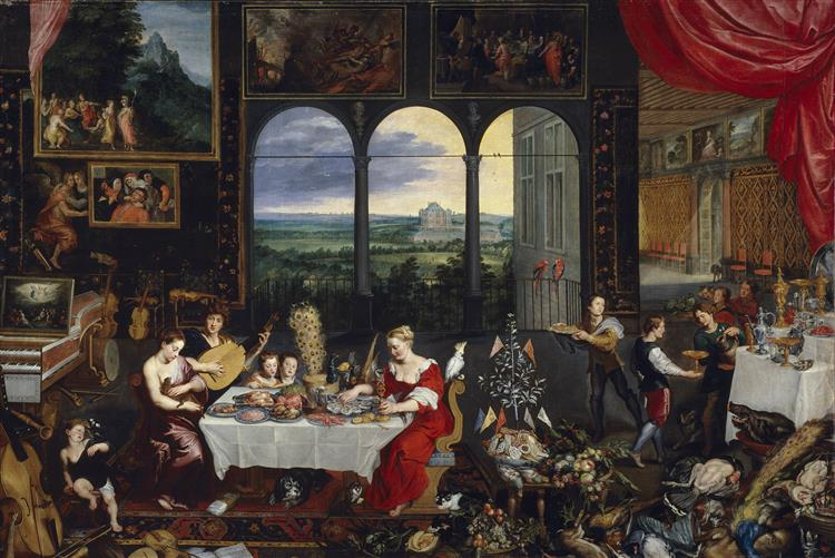 The Senses of Hearing, Touch and Taste, 1618 - Jan Brueghel the Elder