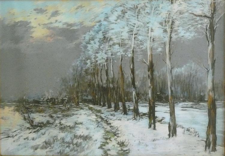 Paysage Enneigé - Pierre-Jacques Pelletier