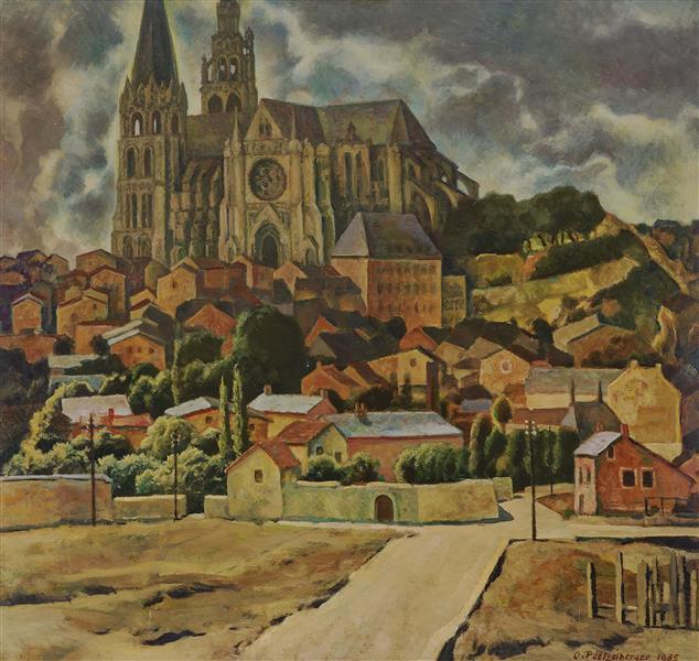 View on Leichlingen Cathedral, 1935 - Werner Peiner