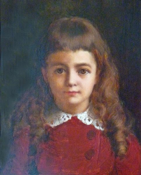 Маленькая девочка в красном платье - Жан Беннер