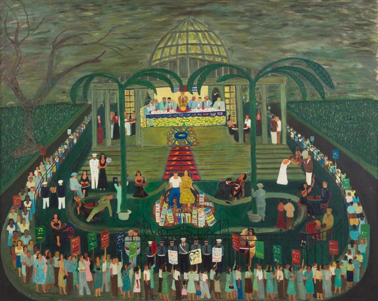 McCarthy Era Garden Party, 1954 - Ralph Fasanella