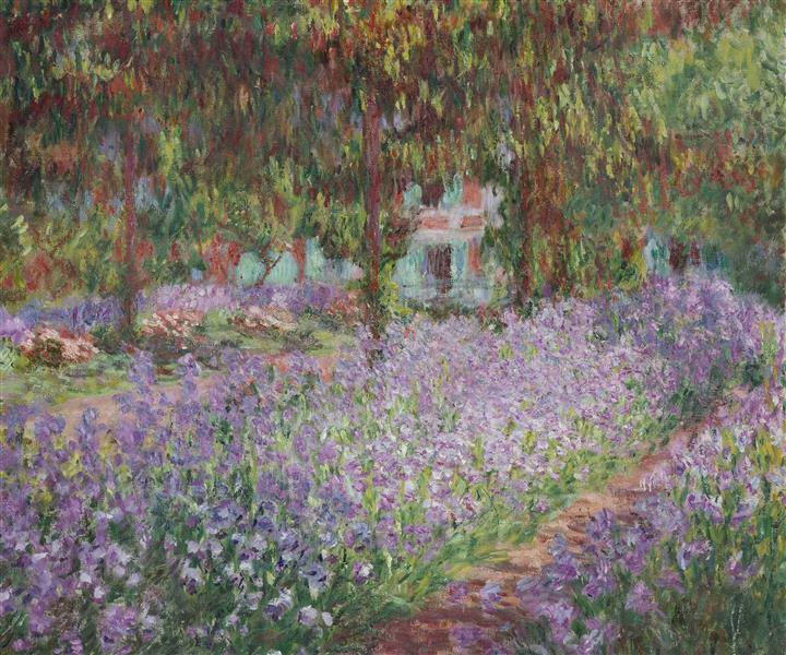 Irises in Monet's Garden, 1900 - Claude Monet