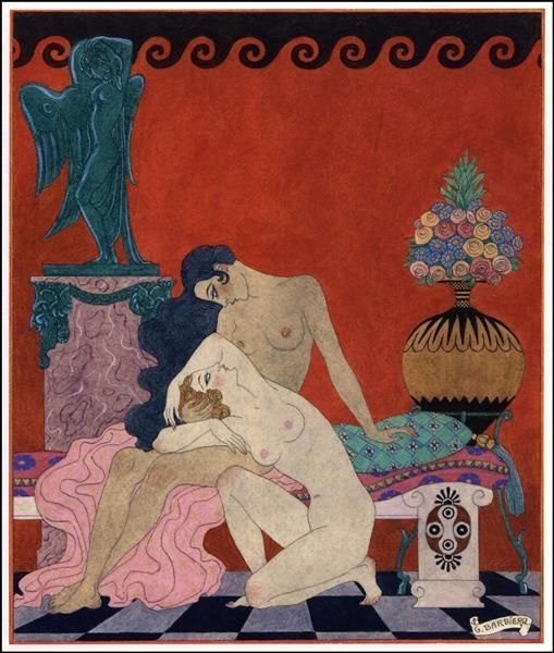 The songs of Bilitis, 1922 - George Barbier