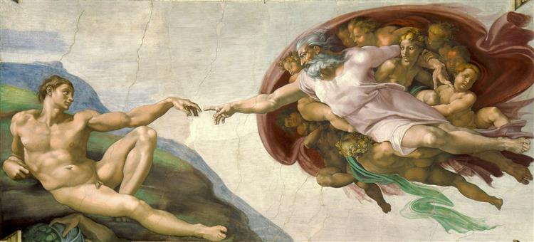 The Creation of Adam, 1508 - 1512 - Michelangelo