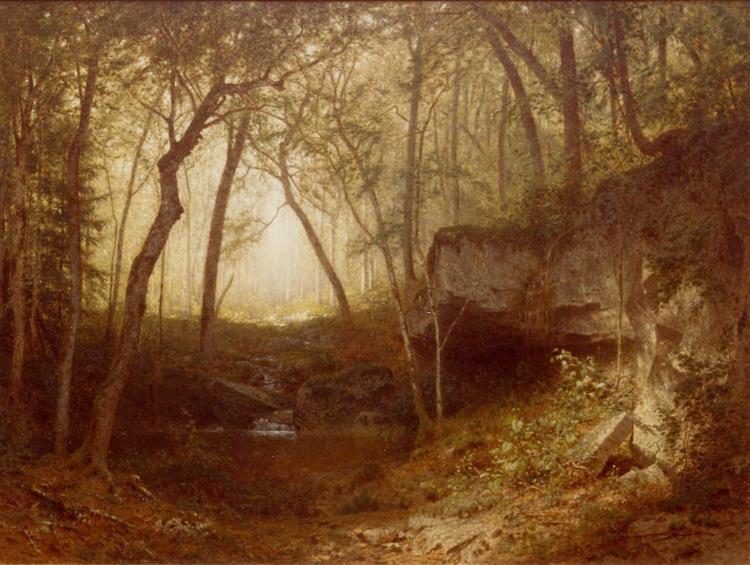In the Wilds of the Adirondacks, 1876 - Alexander Helwig Wyant