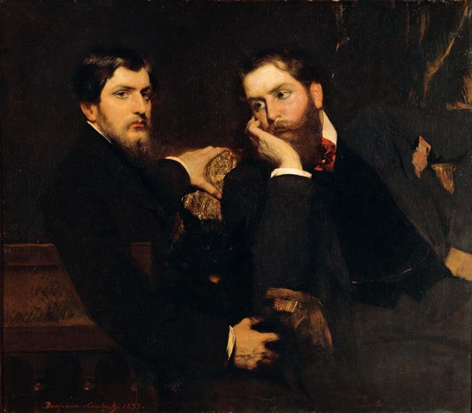 Portrait de Ses Deux Fils (André et Emmanuel) - Benjamin Constant