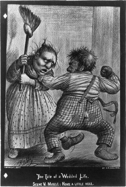 Scene V - Muscle. Couple Fighting, 1877 - Cassius Marcellus Coolidge