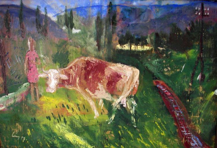Country Scene, 1956 - Rudolf Láng