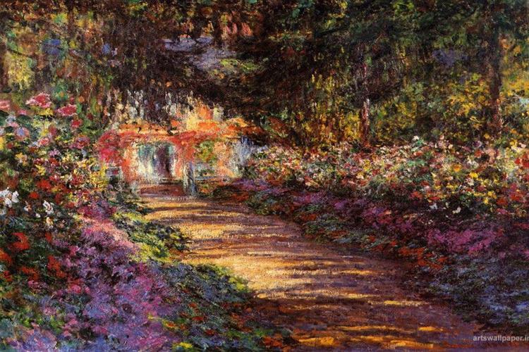 The Flowered Garden, 1901 - 1902 - Claude Monet
