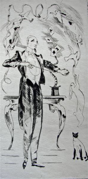 Magician, c.1971 - Rudolf Láng