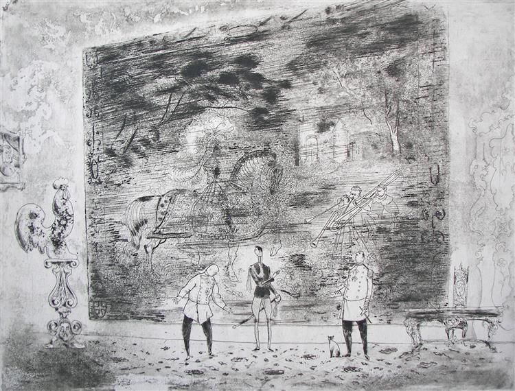 Theater Scene, c.1971 - Rudolf LÁNG