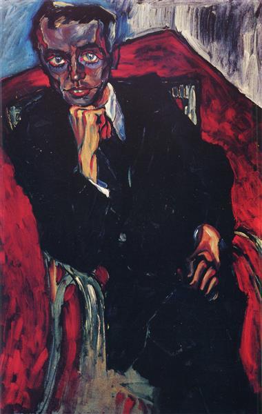 Portrait Alexander Graf Brockdorf B56A, 1919 - Walter Gramatté