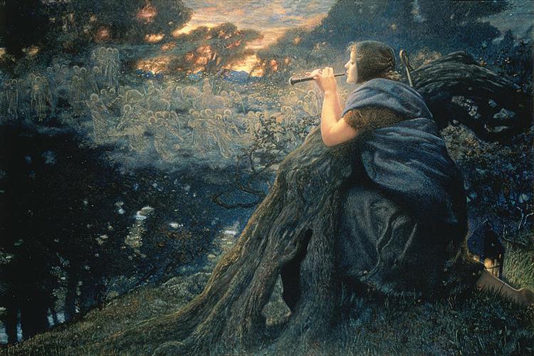 Fantasy in Twilight, 1911 - Edward Robert Hughes