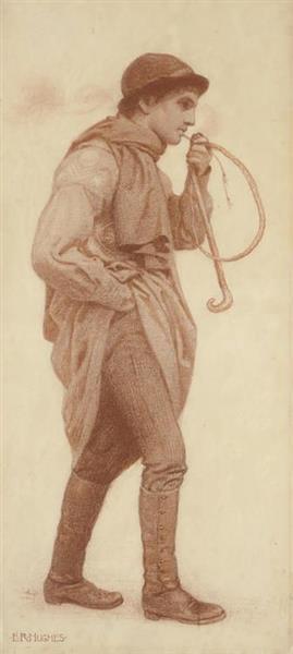The Pipe Smoker - Edward Robert Hughes