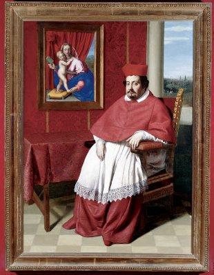 Portrait of Cardinal Rapaccioli Or Cardinal Paolo Emilo Rondinini - Giovanni Battista Salvi da Sassoferrato