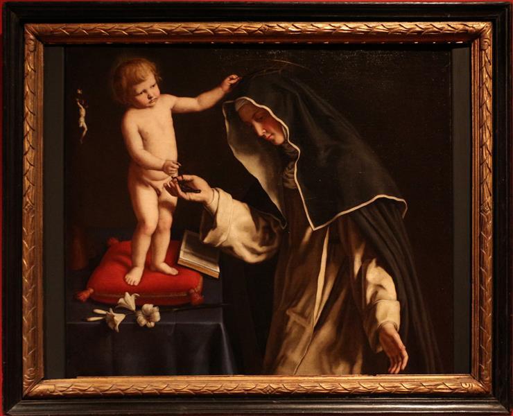 Santa Caterina da Siena con Gesù Bambino, c.1650 - Giovanni Battista Salvi da Sassoferrato