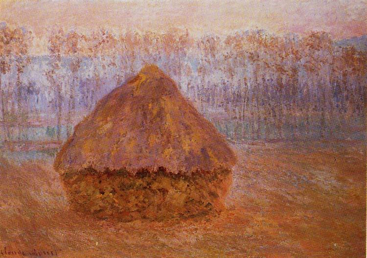 Grainstack in Winter, Misty Weather, 1889 - Claude Monet