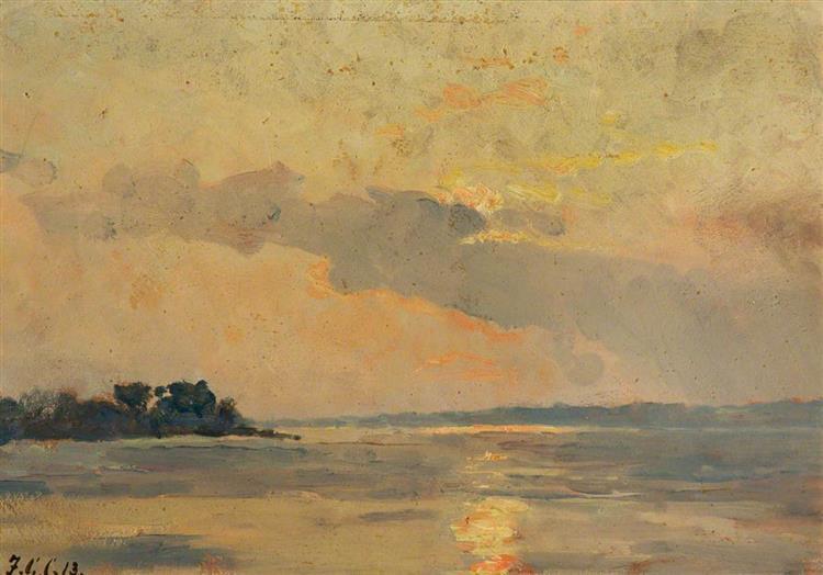 Shotley Point, Stour River - Frederick George Cotman