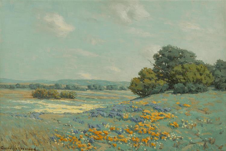 California Poppy Field - Granville Redmond