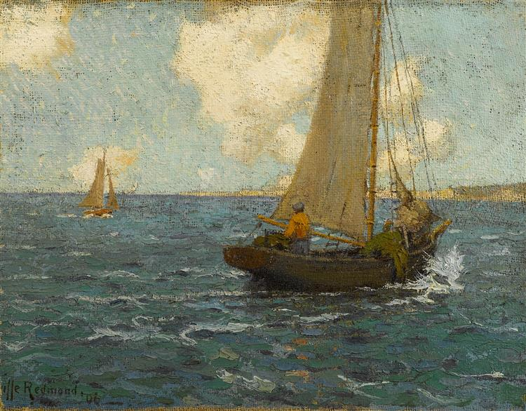 Sailboats on Calm Seas - Granville Redmond
