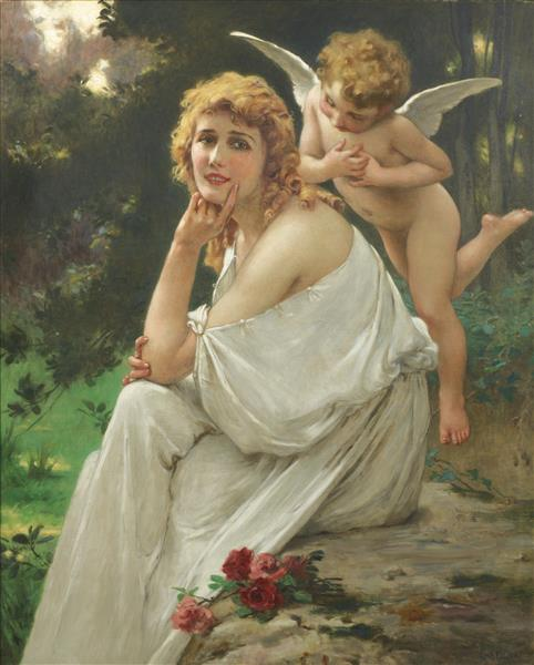 Love's Muse (portrait of Mary Pickford) - Guillaume Seignac
