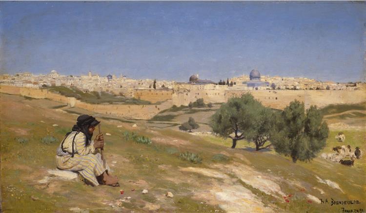 Jerusalem from the South East, 1890 - Hans Andersen Brendekilde