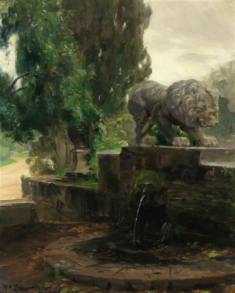 A Fountain in Rome, 1922 - Hans Andersen Brendekilde