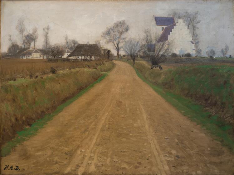 Road near Brendekilde Church - Hans Andersen Brendekilde