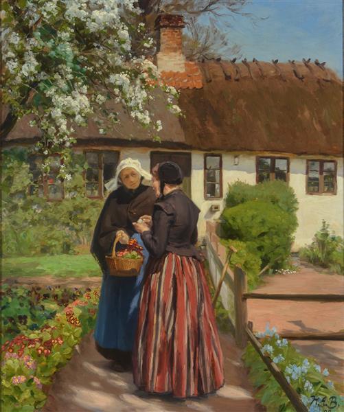 House in Lille Næstved, 1904 - Hans Andersen Brendekilde