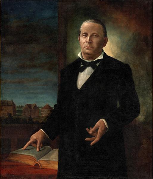 A Portrait of Former Baylor University President, William Carey Crane - Henry Arthur McArdle