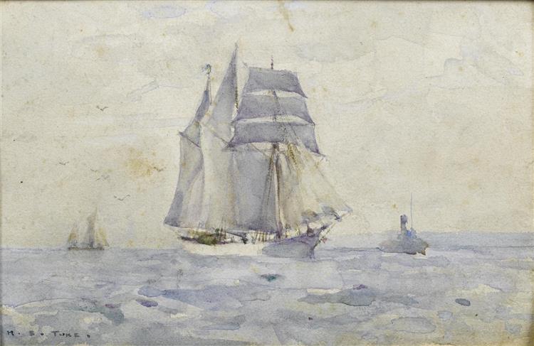 Sailing Ships and Maritime Scene (for More Information See Exif Data) - Henry Scott Tuke