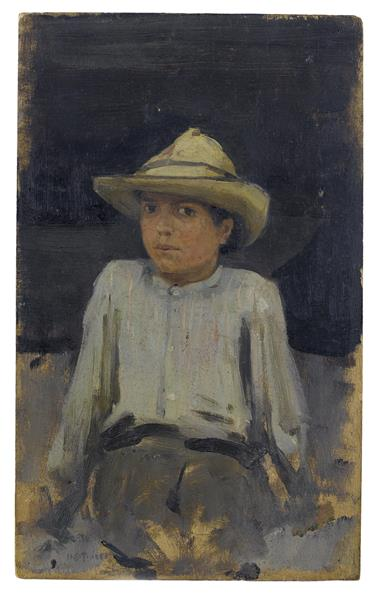 Boy with Hat - Henry Scott Tuke