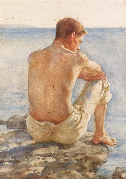 Charlie Mitchell, 1909 - Henry Scott Tuke