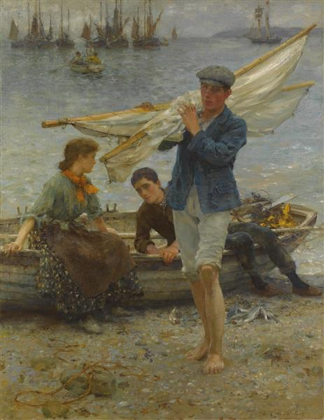 Return from fishing, 1907 - Henry Scott Tuke