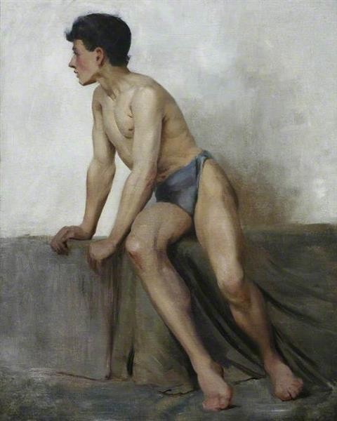 Seated Nude Study, 1877 - Henry Scott Tuke