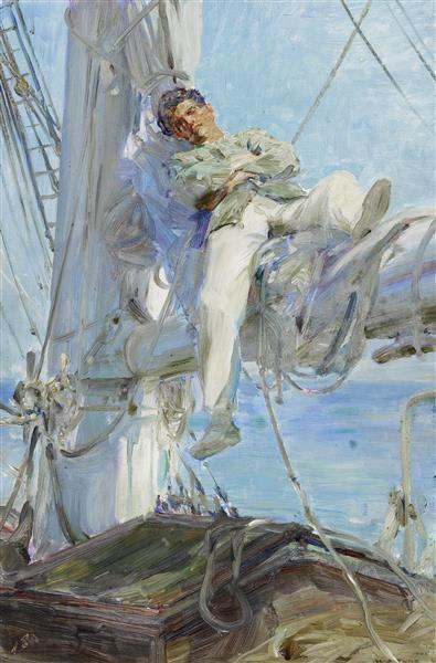 Sleeping Sailor - Henry Scott Tuke