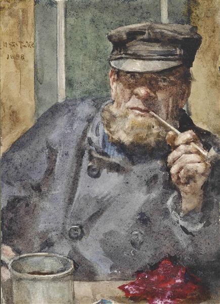 The Old Sea Dog - Henry Scott Tuke