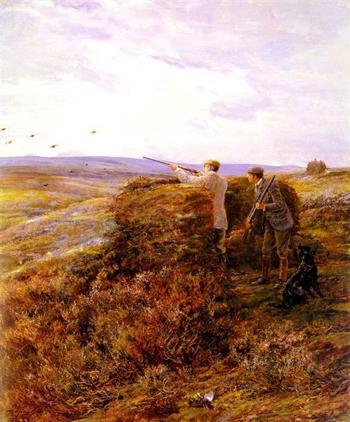 The Grouse Shoot, 1898 - Heywood Hardy