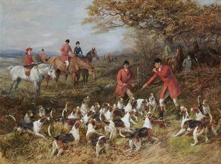Hunters and Hounds - Heywood Hardy